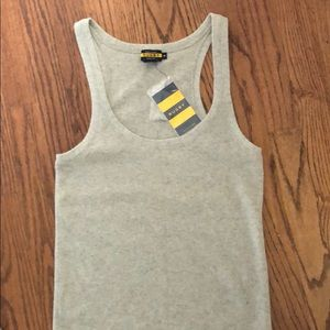 Ralph Lauren Rugby gray cashmere tank top. Size M